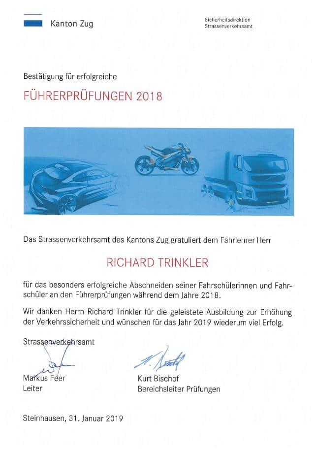 Fahrschule XXL Richi Trinkler Prüfungen